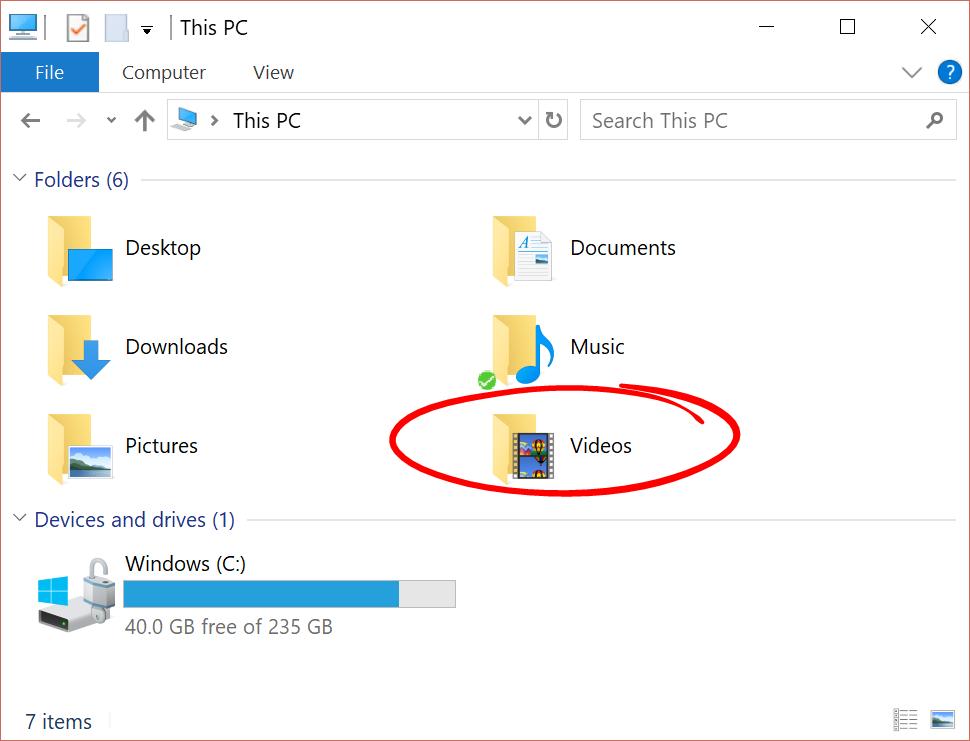 My Computer Videos